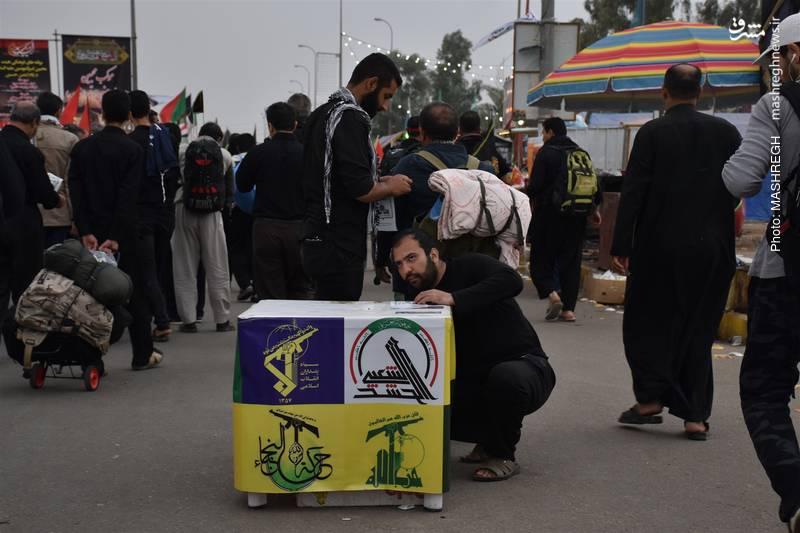 تصاویر زائران خارجی از مسیر پیاده روی اربعین