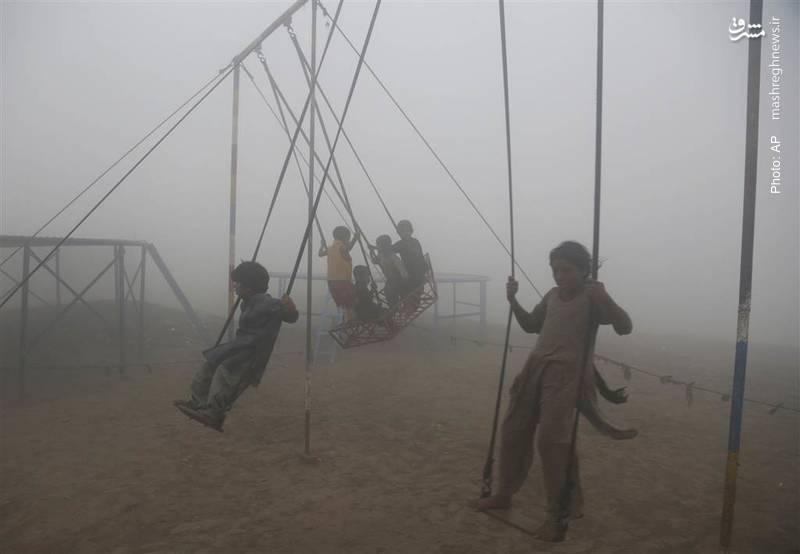 دود غلیظ در لاهور پاکستان