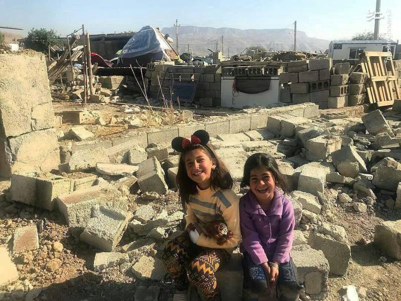 عکس/ لبخند زیبا پس از ویرانی
