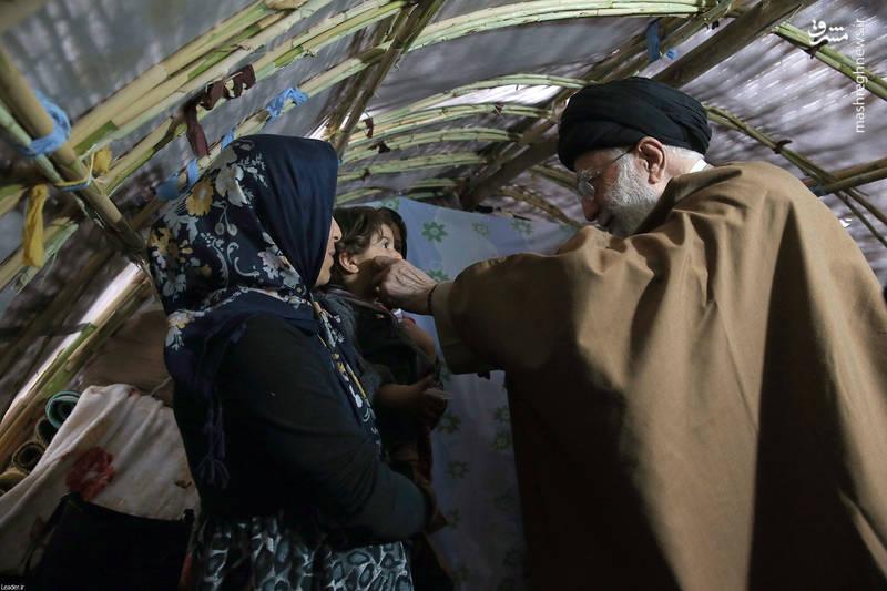 حضور رهبر انقلاب در روستاهای زلزلهزده کرمانشاه