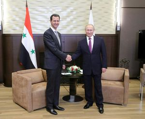 دیدار بشار اسد با پوتین