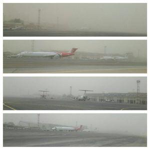 عکس/ فرودگاه اهواز غرق در غبار