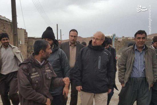 بازدید قالیباف از مناطق زلزله زده