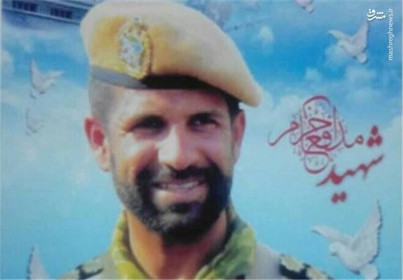 سرهنگ شهید مجتبی ذوالفقارنسب از رکن دوم تیپ 45 تکاور ارتش که در سوریه به شهادت رسید.