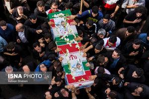 عکس/ تشییع دو شهید مدافع حرم در گیلان