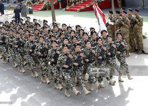 عکس/ رژه زنان ارتش لبنان