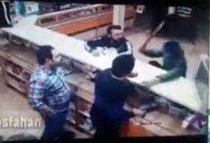 فیلم/ حمله با قمه به داروخانه در آران و بیدگل