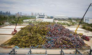 عکس/ گورستان دوچرخهها در چین!