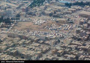 تصاویر هوایی جدید از مناطق زلزله زده