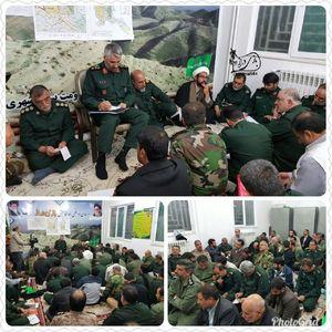 عکس/ حضور سردار فضلی در جلسه قرارگاه سازندگی در سرپل ذهاب