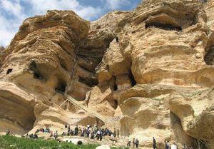 عکس/ غار کرفتو در دل صخرههای مرتفع