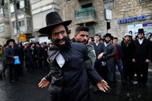 فیلم/ درگیری یهودیان ارتدکس با پلیس اسرائیل