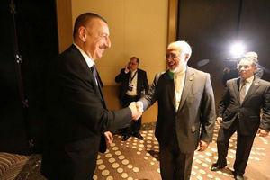 عکس/ دیدار ظریف با رئیس جمهور آذربایجان