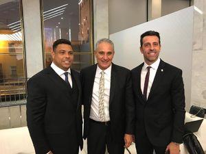 عکس/ رونالدو در کنار سرمربی تیم ملی فوتبال برزیل
