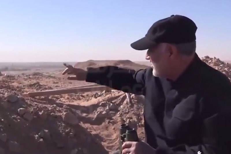 فیلم/ حضور حاجقاسم در خط مقدم جنگ با داعش