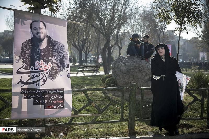 2123941 - مراسم تشییع شهید مدافع حرم نوید صفری