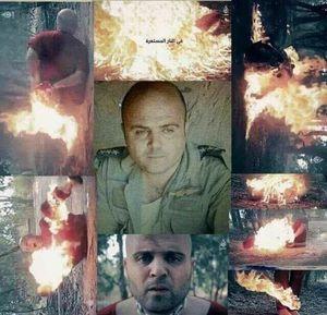 داعش یک خلبان سوری را زنده زنده به آتش کشید +عکس
