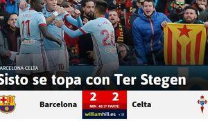 بارسلونا 2 - سلتاویگو 2