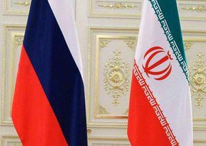 پرچمهای ایران و روسیه