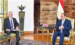 وزیر دفاع آمریکا با رئیسجمهور مصر