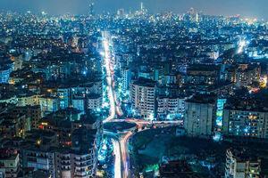 تصویر هوایی زیبا از شهر بیروت