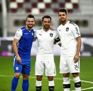 عکس/ ژاوی در کنار دو لژیونر فوتبال کشورمان