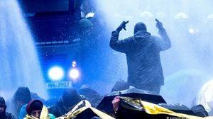 زد و خورد پلیس و مردم در آلمان +عکس