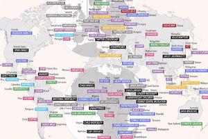 عکس/ ویژگیهای خاص کشورهای جهان