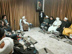 عکس/ دیدار مفتی اعظم سوریه با آیتالله نوریهمدانی