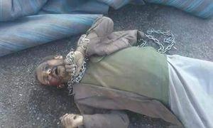 عکس/ قتل عجیب مرد یمنی توسط طرفداران عبدالله صالح