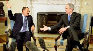 عکس/ دیدار دیکتاتور یمن با بوش
