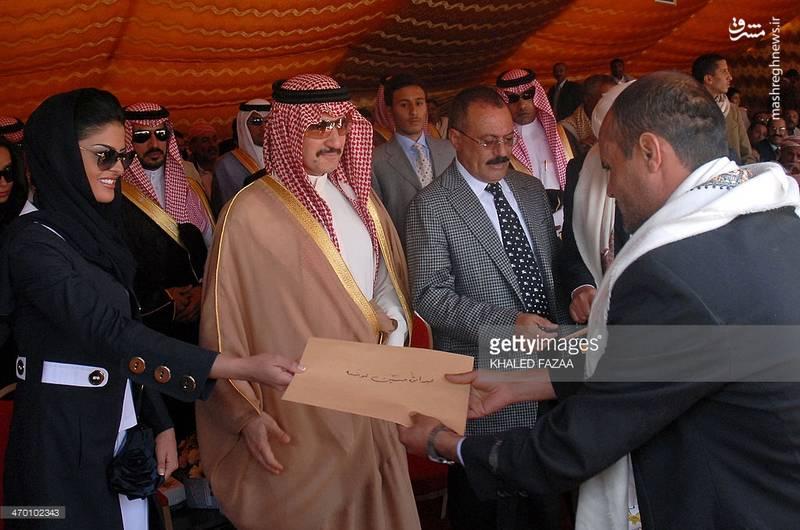 عبدالله صالح در کنار شاهزاده الولید بن طلال