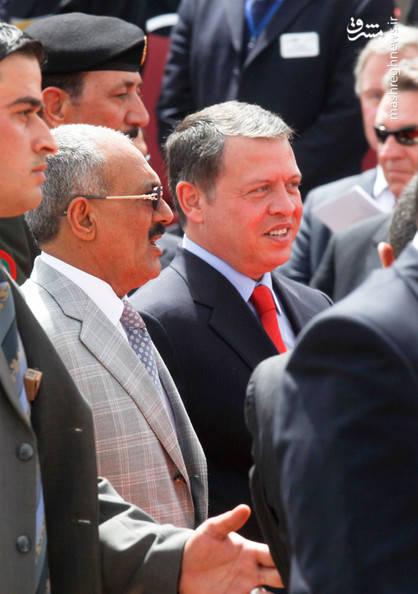 عبدالله صالح در کنار ملک عبد الله دوم(پادشاه اردن)