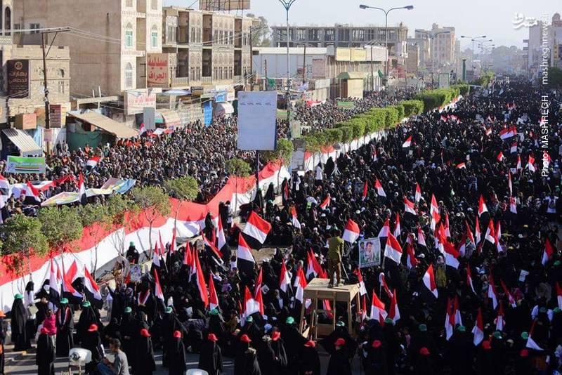 شهروندان یمنی در خیابان «فرودگاه » شهر صنعاء راهپیمایی کردند