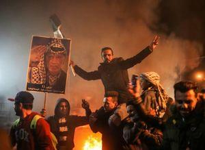 عکس/ تظاهرات مردم غزه علیه تصمیم ترامپ
