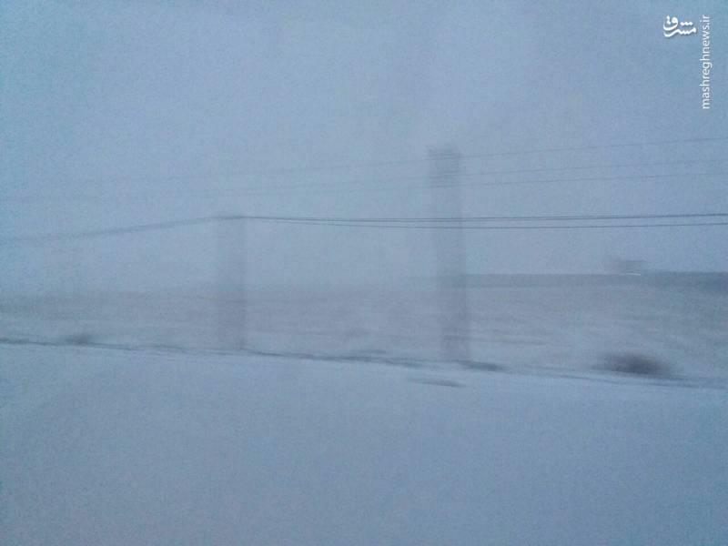 برف و کولاک شدید جاده اردبیل مشگین