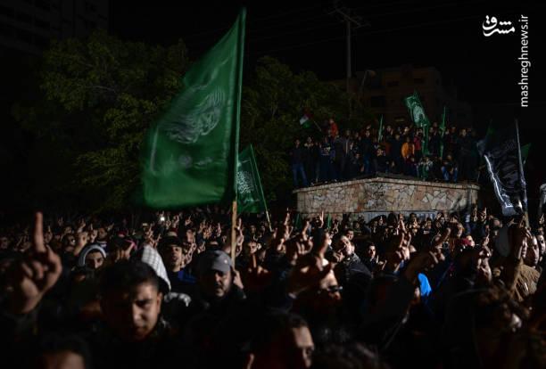 تظاهرات مردم غزه علیه تصمیم ترامپ