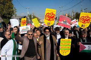 عکس/ راهپیمایی ضدصهیونیستی نمازگزاران تهرانی