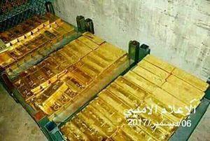 عکس/ طلاهای کشف شده از کاخ عبدالله صالح