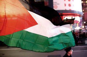 برافراشتن پرچم فلسطین در آمریکا