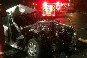 تصادف مرگبار پژو 206 با کامیونت