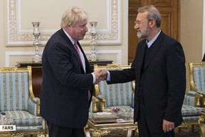 عکس/ دیدار وزیرخارجه انگلیس با لاریجانی
