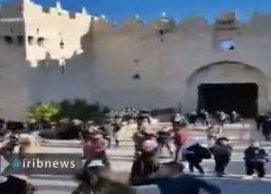فیلم/ شعار ضد آلسعود فلسطینیان در شهرقدس