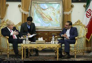 عکس/ دیدار وزیر خارجه انگلیس با شمخانی