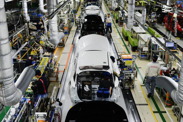 خط تولید تویوتا پریوس در ژاپن