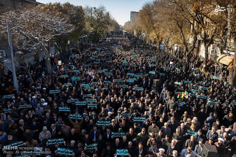 حضور مردم در کشورهای مختلف اسلامی در اعتراض به تصمیم ترامپ برای انتقال سفارت آمریکا از تل آویو به قدس