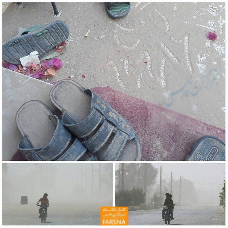 عکس/ هجوم ریزگردها به ریگان