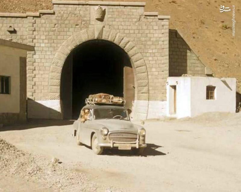جاده چالوس تونل کندوان سال ۱۳۳۹