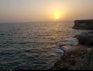 عکس/ غروب زیبا در دریا بزرگ چابهار