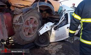 عکس/ تصادف مرگبار رانا با کامیون